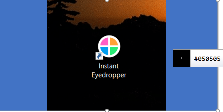 instant eyedropper color edit tool